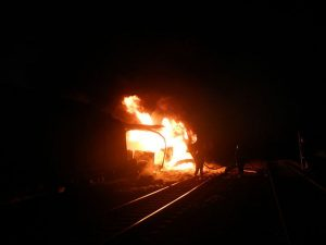 Požar teretnog vlaka 06.10.2011